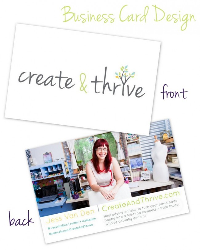 Create and Thrive Business Card Design