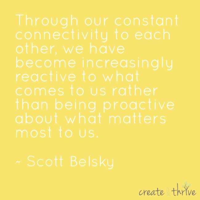 Scott Belsky - Proactive vs Reactive