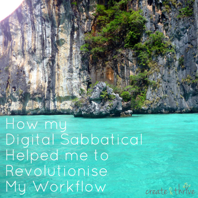 how my digital sabbatical helped me to revolutionise my workflow
