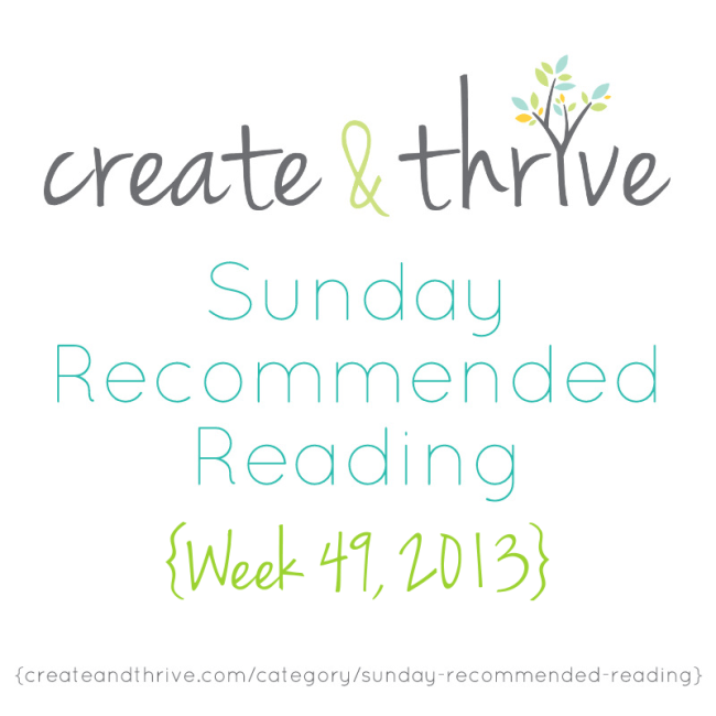 C&T Recommended Reading Week 49, 2013