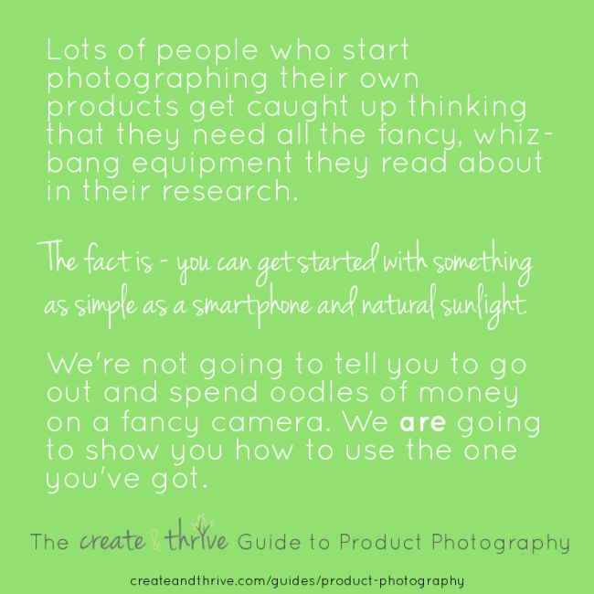 Create & Thrive Guide to Product Photography