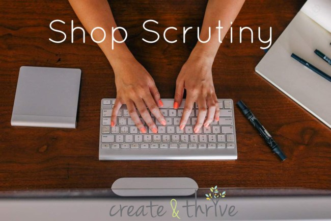shop scrutiny with create and thrive