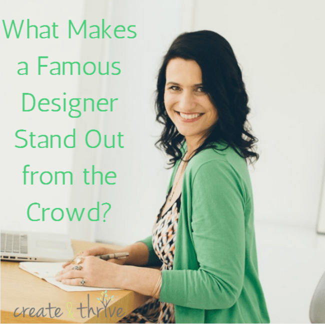 what makes a designer stand out from the crowsd