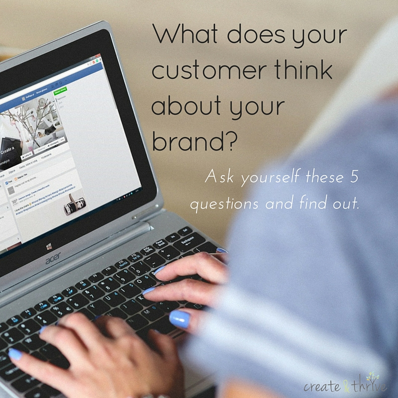 How does your customer see your brand-
