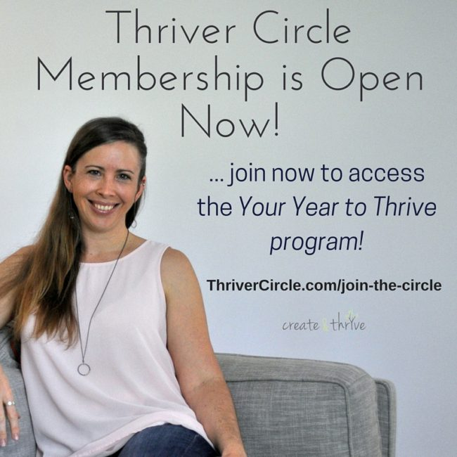 Thriver Circle Membership Open Now