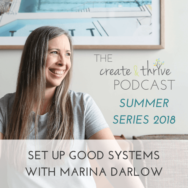 SS18 – Set up Good Systems with Marina Darlow