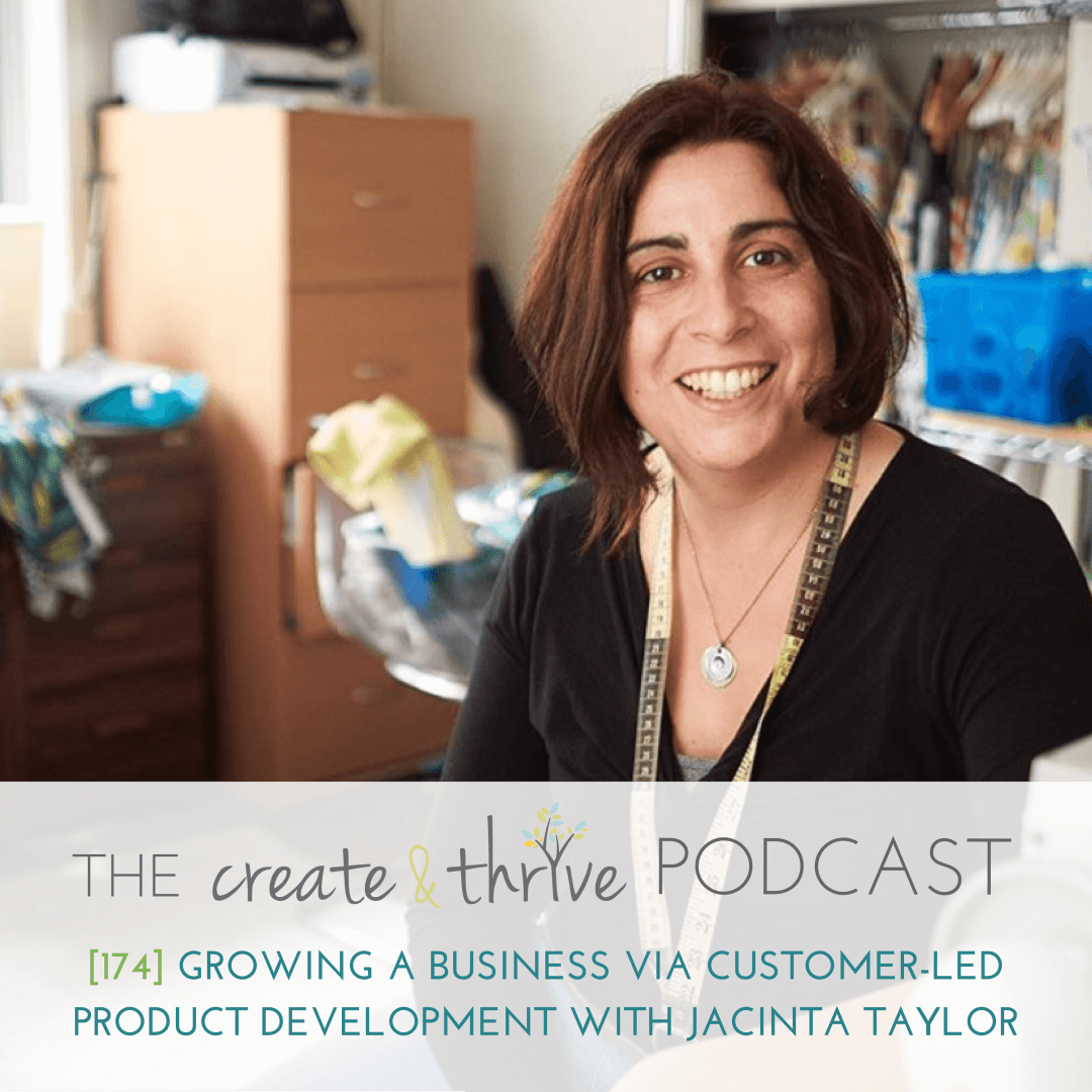 [174] Growing a Business via Customer-Led Product Development with Jacinta Taylor