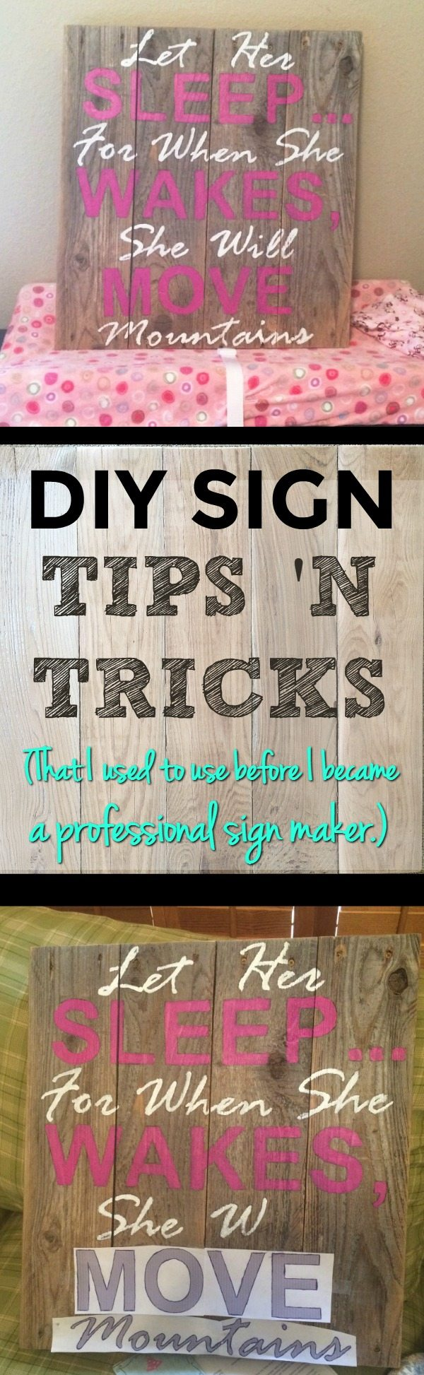 DIY Sign Instructions | Make cheap wood signs | Instructions to make wood signs | DIY sign stencils | How to make signs with wood | DIY reclaimed wood signs | DIY nursery signs