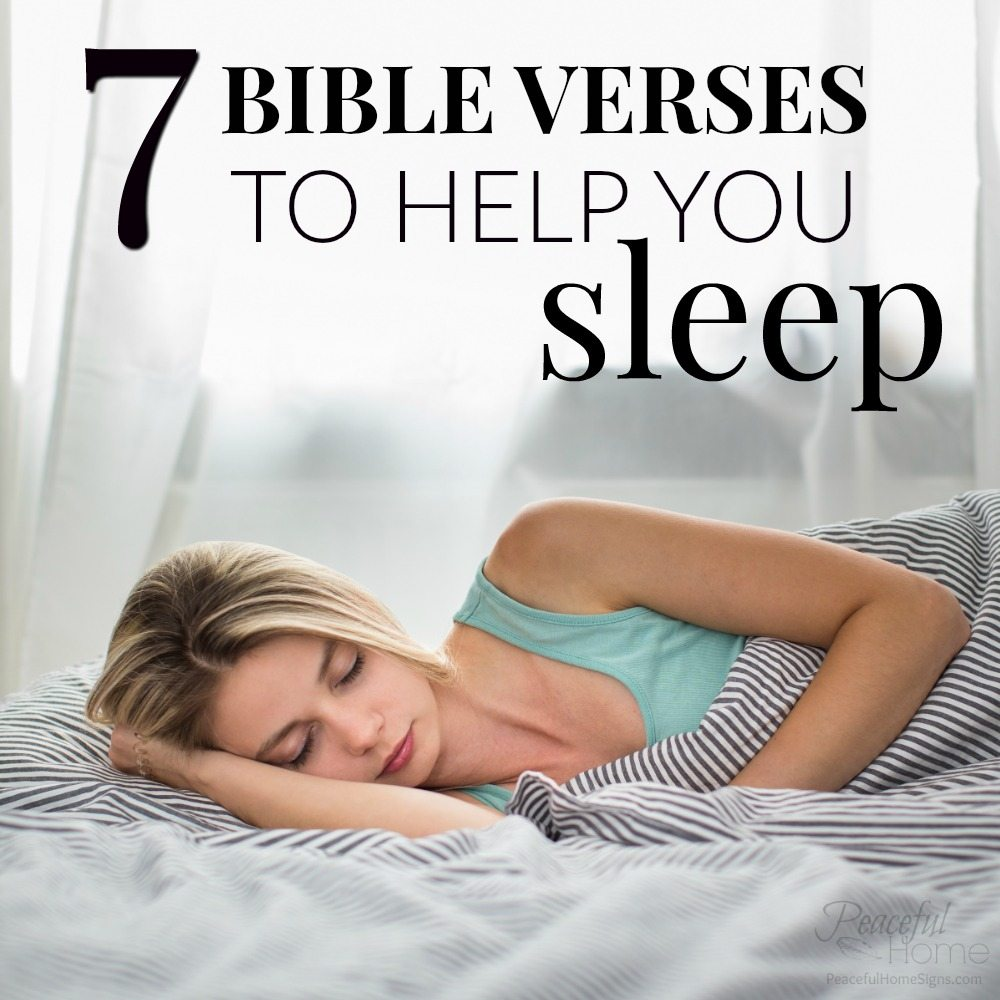Bedtime Prayer & 7 Bible Verses to Help You Sleep - Peaceful