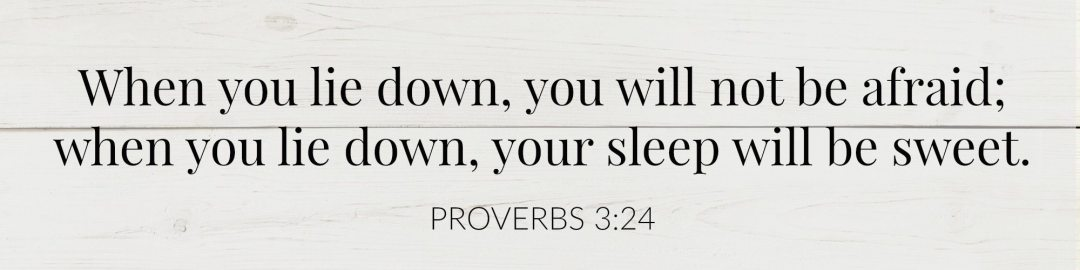 Bedtime Prayer & 7 Bible Verses to Help You Sleep - Peaceful Home