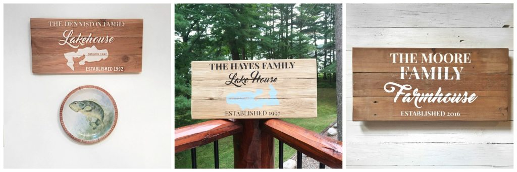Custom Lake House Sign | Custom Farmhouse Sign | Painted Reclaimed Wood Signs | Gift for Him | Fathers Day Gift Guide