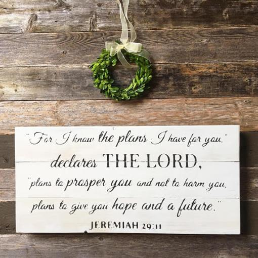 For I Know The Plans I Have For You Jeremiah 2911 Bible Verse Sign