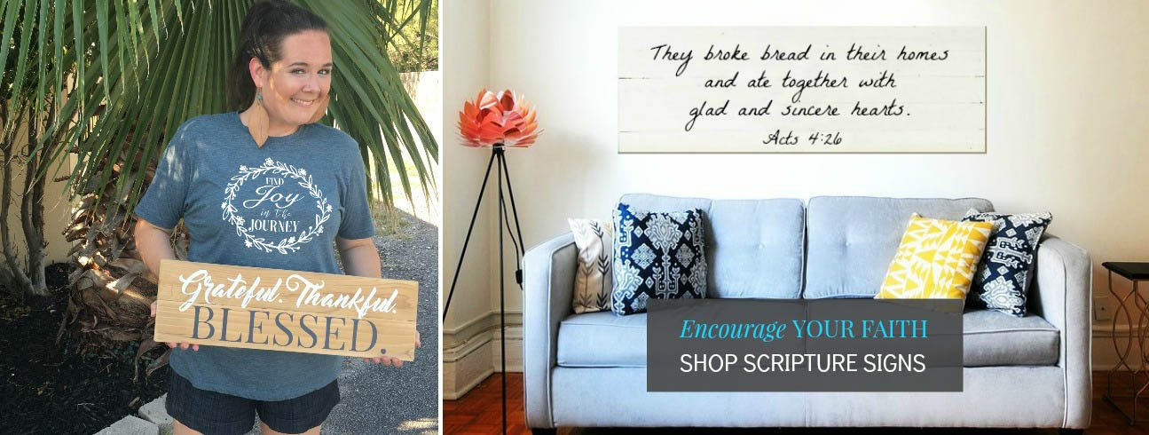 Encourage Your Faith | Reclaimed Wood Signs | Slider
