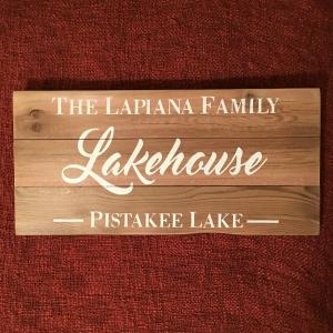 Standard Lakehouse Sign | $70
