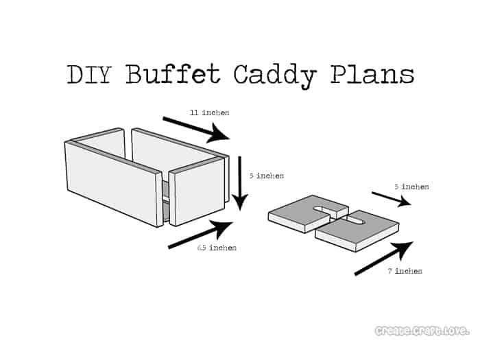 DIY Buffet Caddy from an Old Pallet