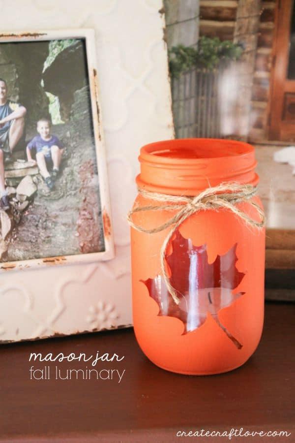 Mason Jar Fall Luminary by Create Craft Love