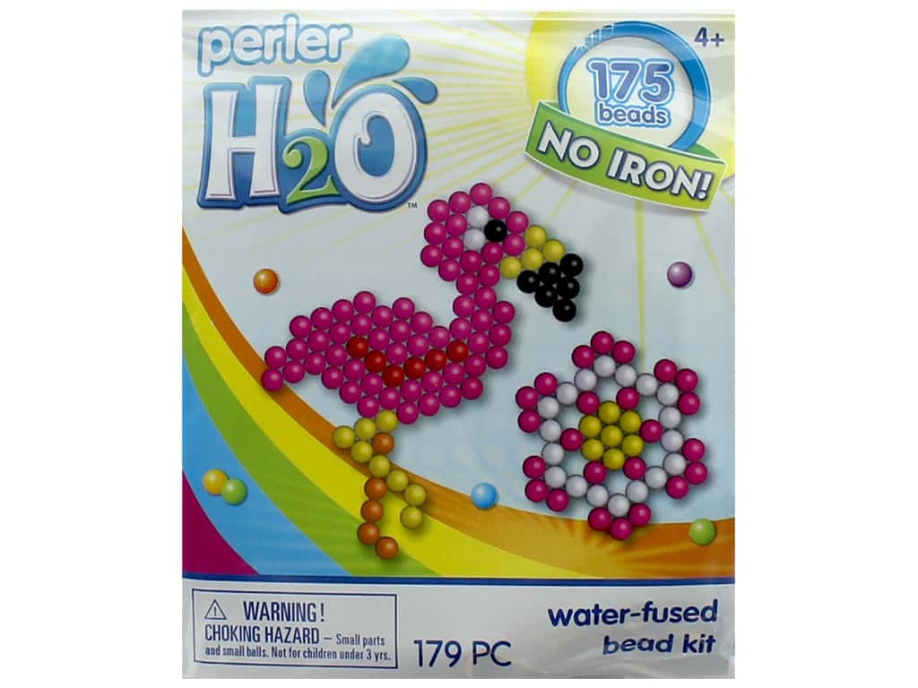 hight resolution of perler h2o water fused bead kit trial flamingo flower