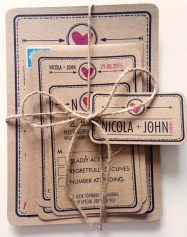 'RUBY-LOU' Rustic style wedding invites