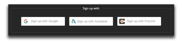 Sign up with integration