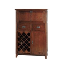Mission Small Bar Cabinet - Home Envy Furnishings: Solid ...
