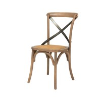 Cross Back Dining Chair - Home Envy Furnishings: Solid ...