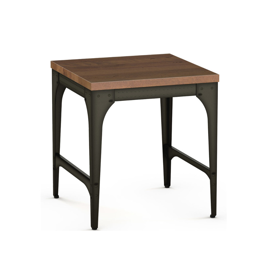 elwood end table rustic wood