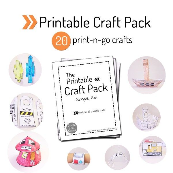 Printable Craft Pack Create in the Chaos