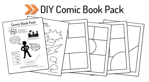 Printable DIY Comic Book Pack and Drawing Resources