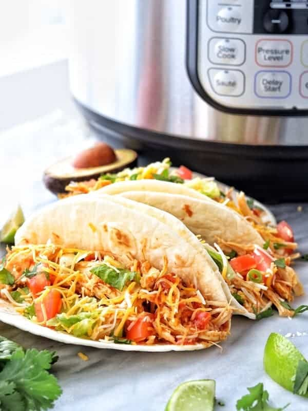 Instant Pot or Slow Cooker Shredded Chicken Tacos