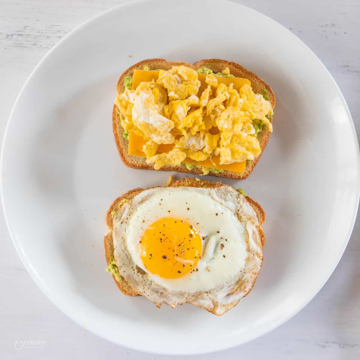 egg on top of toast
