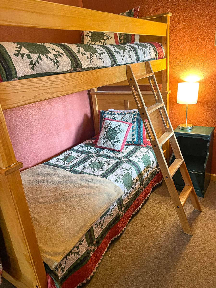 bunk beds in a cabin