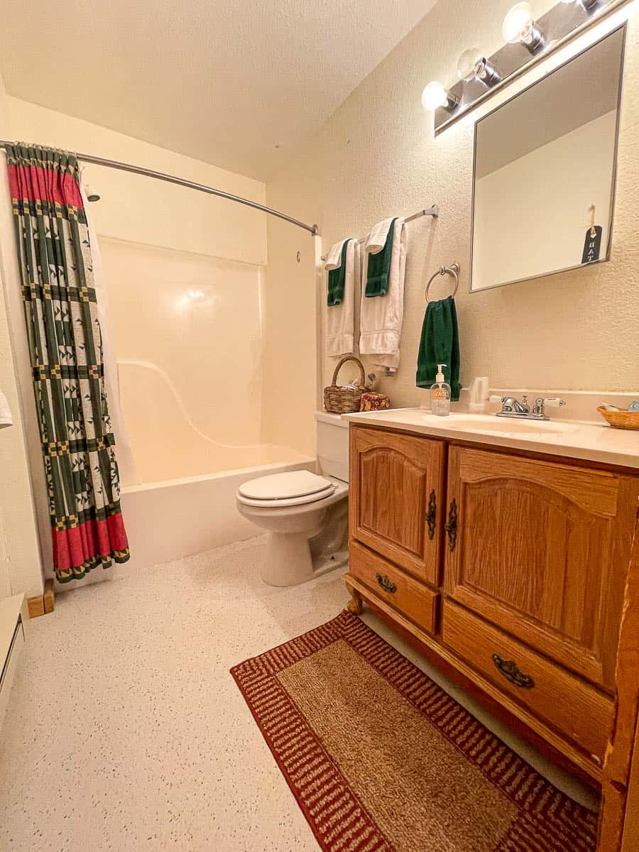 bathroom in a cabin