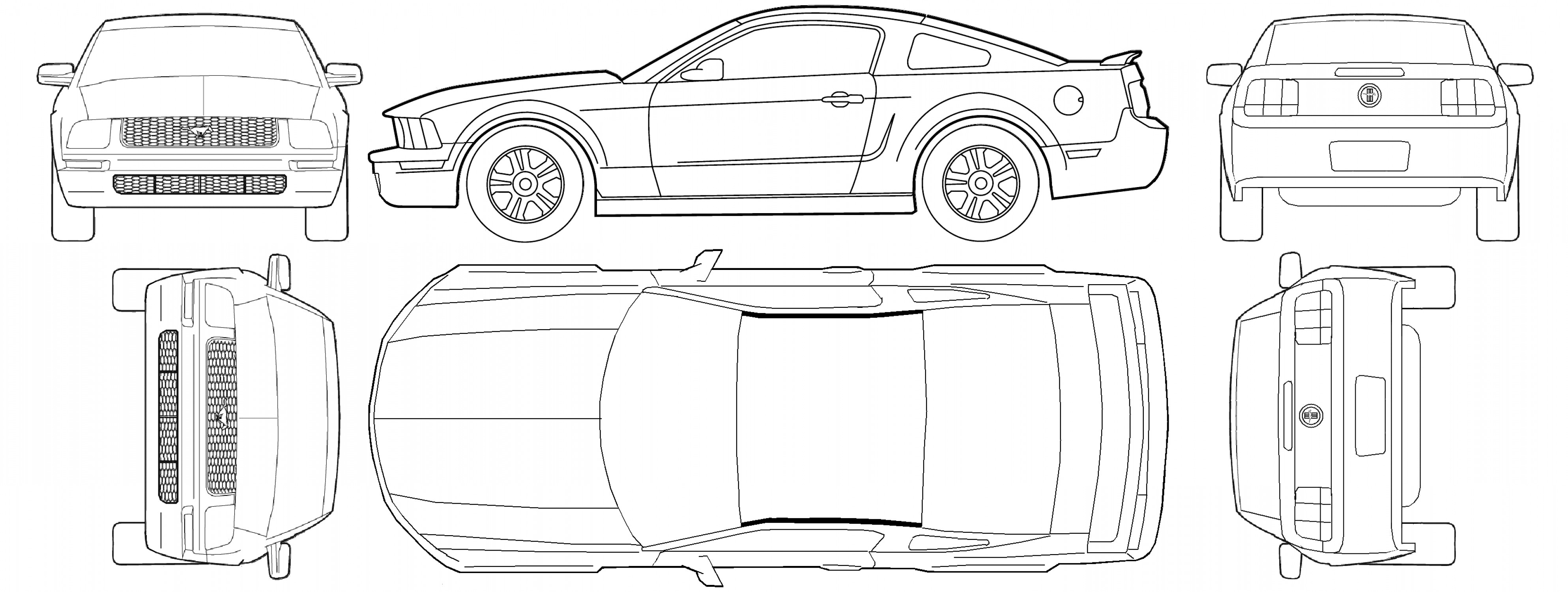 Blueprints Ford Mustang Engine Diagram Auto Electrical Wiring Diagram