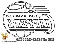 Los Angeles Lakers Coloring Pages
