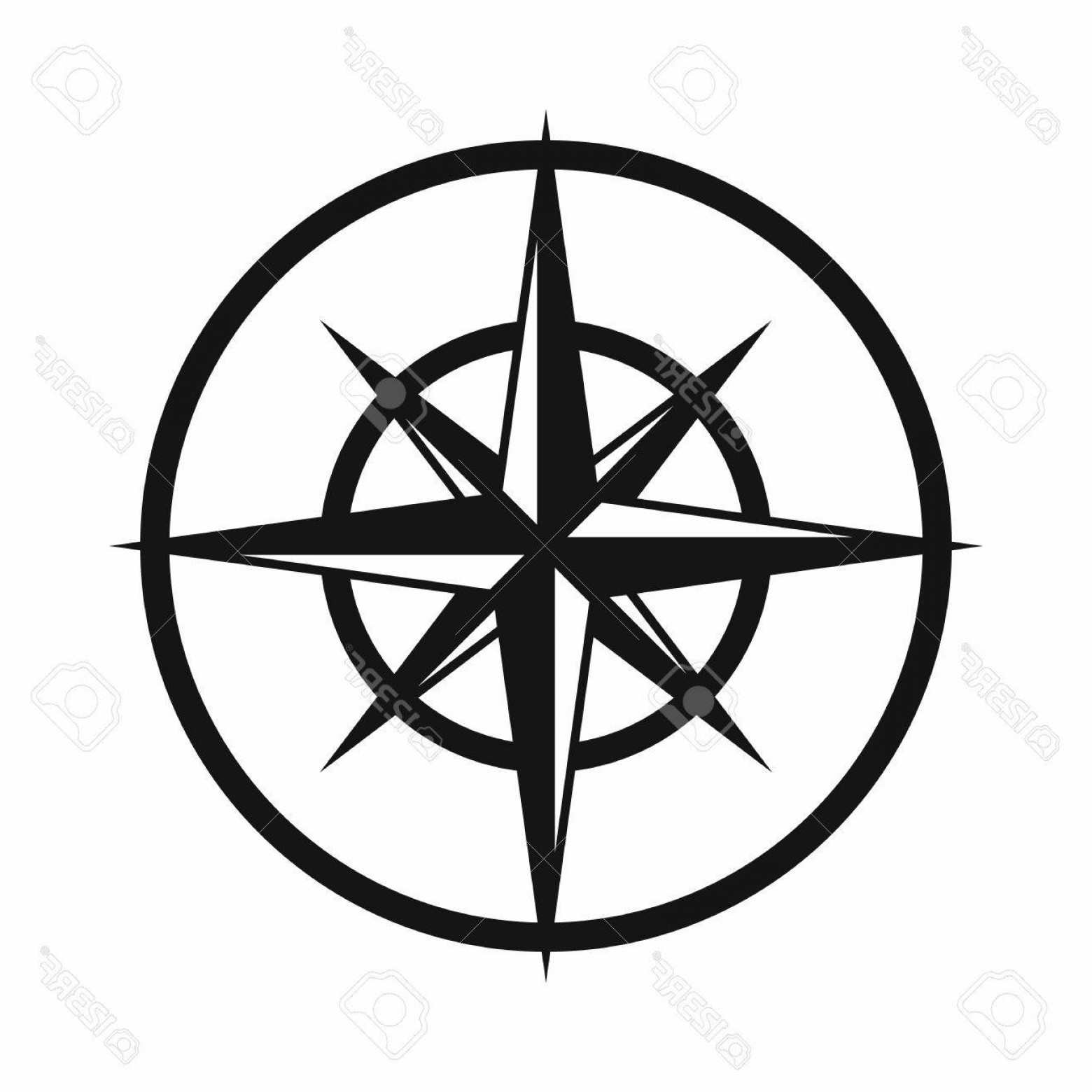 Photostock Vector Sign Of Compass To Determine Cardinal
