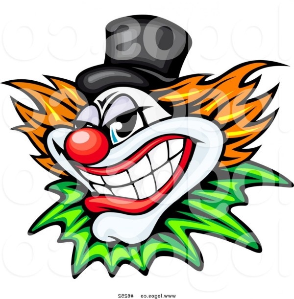 evil clown vector art createmepink