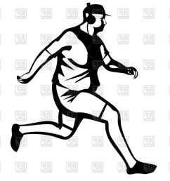 person running silhouette vector silhouette of fat man jogging vector clipart [ 1440 x 1018 Pixel ]