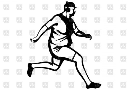 small resolution of person running silhouette vector silhouette of fat man jogging vector clipart