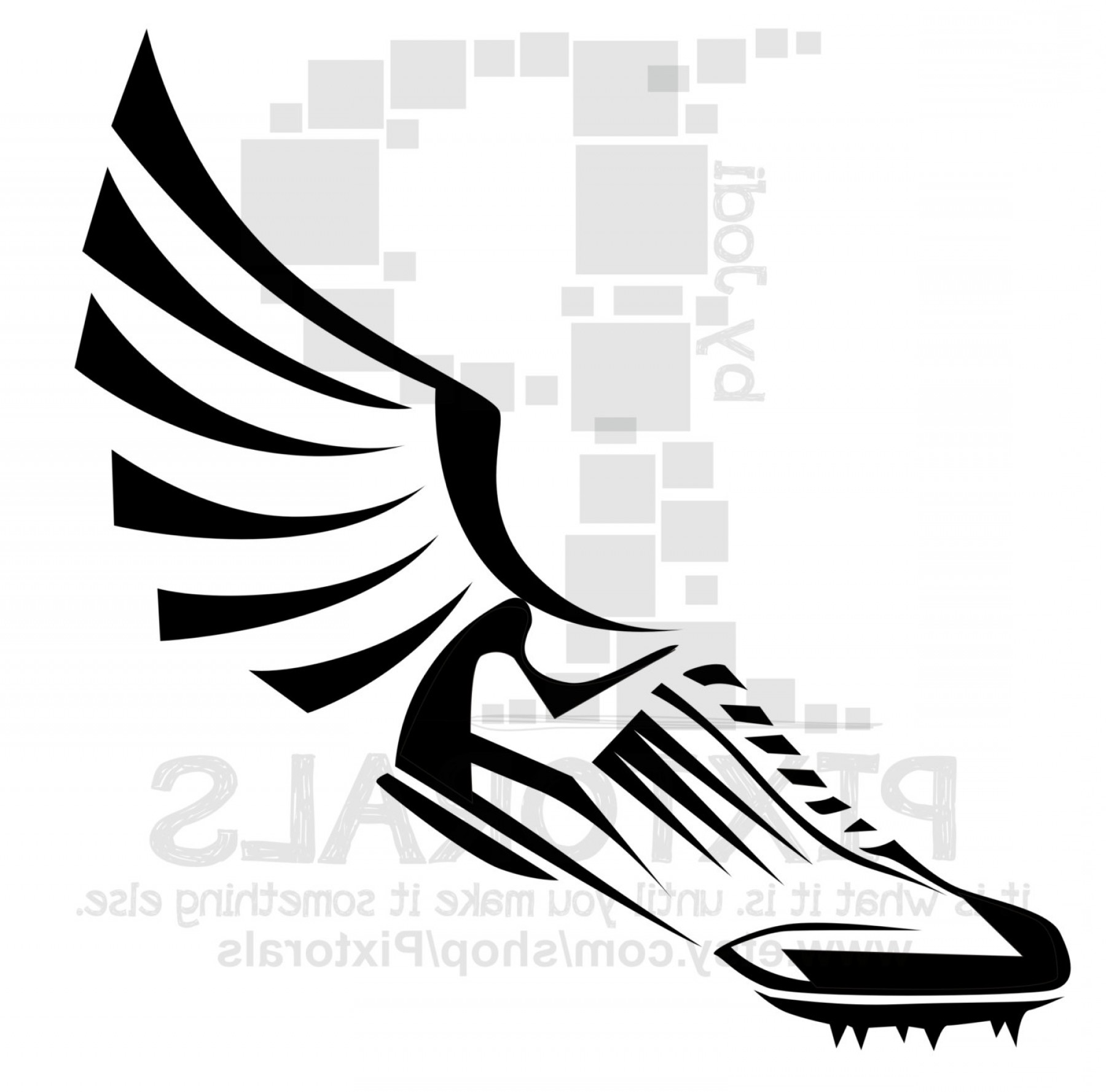 Track Winged Foot Vector