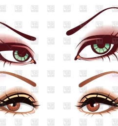 woman eye vector graphics womens green and brown eyes mysterious look vector clipart [ 1440 x 1118 Pixel ]