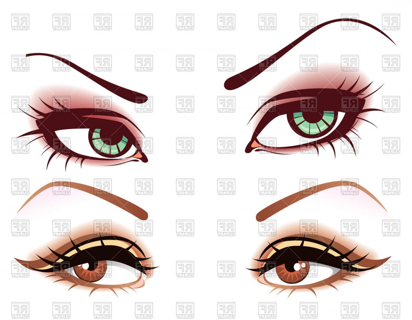 hight resolution of woman eye vector graphics womens green and brown eyes mysterious look vector clipart