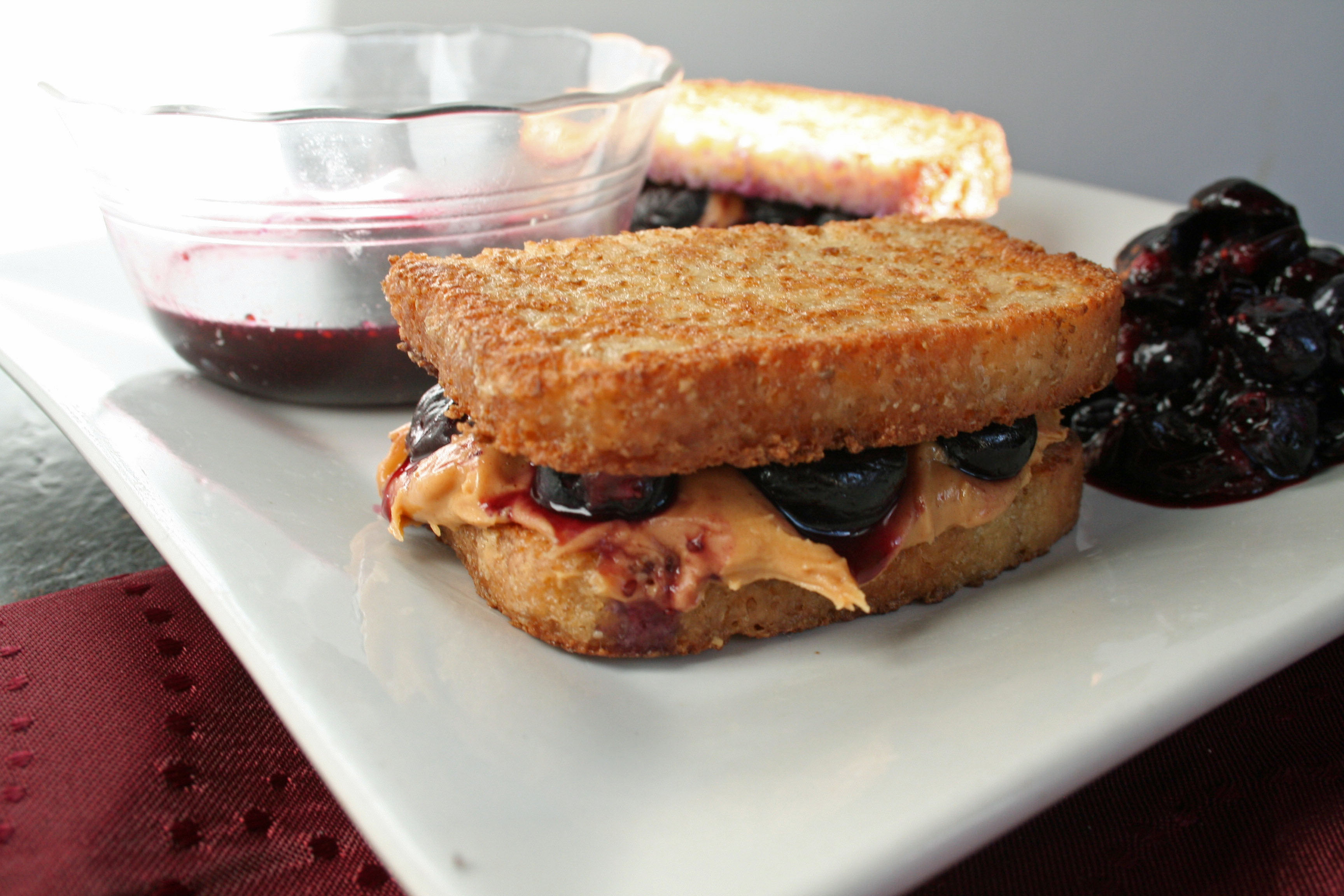 Peanut Butter and Blueberry French Toast - Create Mindfully