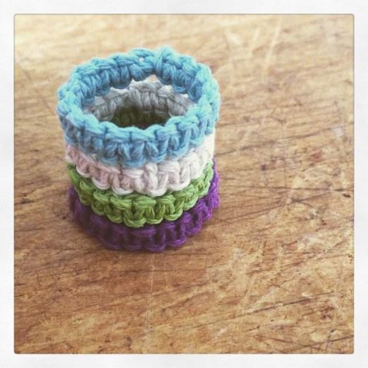 Hemp macrame knot rings from Whimsical Walney