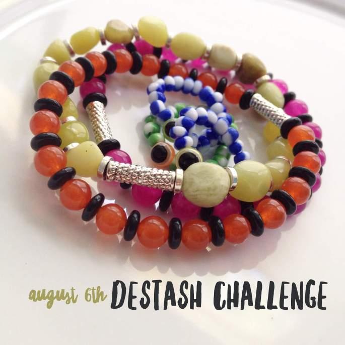 Destashin g beads by making bracelets again.