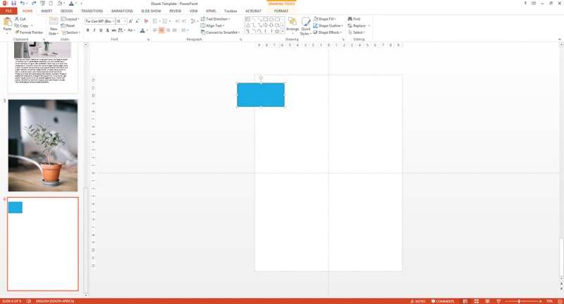 Add text to your Powerpoint ebook