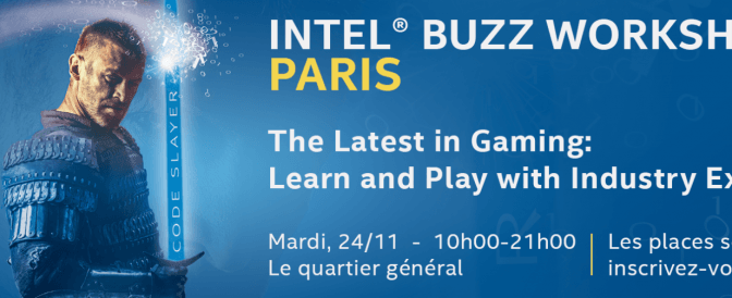 Intel® Buzz Workshop pose ses manettes à Paris 11 le mardi 24 novembre 2015.
