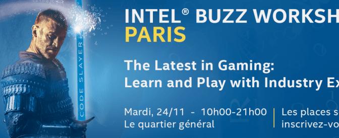 Intel® Buzz Workshop pose ses manettes à Paris 11 le mardi 24 novembre 2015.