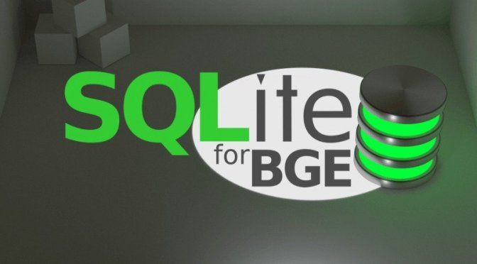 Sur Blender Market: SQLite pour Blender Game Engine