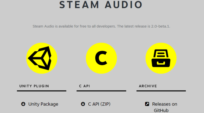 "Steam Audio <span class=""caps"">API</span> pour une meilleure immersion <span class=""caps"">VR</span> et Unreal Engine"