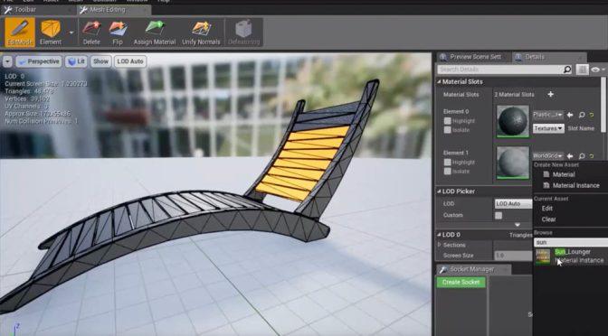 Unreal Engine se dote d'un outil de modélisation interne (dont Sculpting)